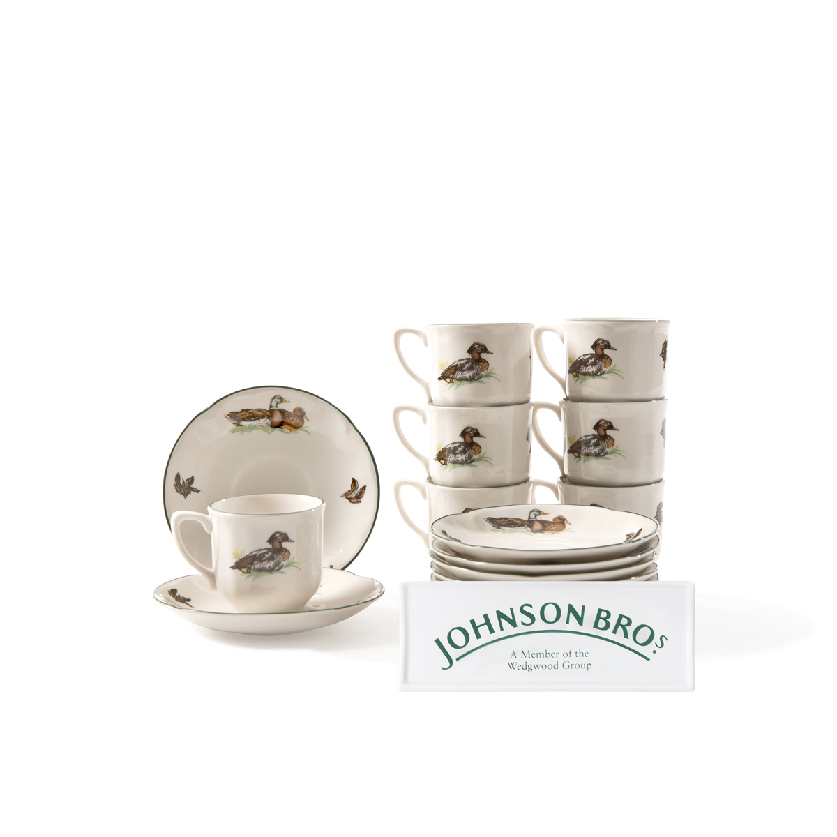 6 pocillos de caf con plato johnson brothers brookshire - Johnson brothers vajilla ...