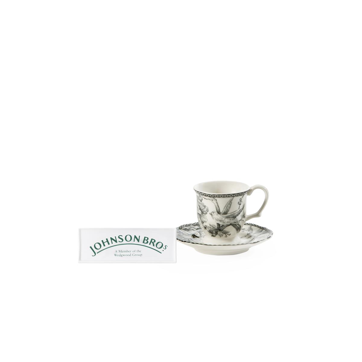 6 pocillos de caf con plato johnson brothers grey dove - Johnson brothers vajilla ...